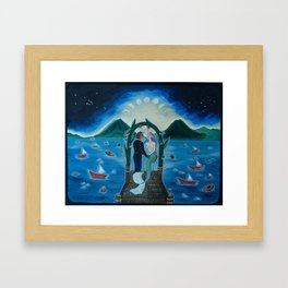 The Marriage of the Minotaur and the Mermaid Framed Art Print