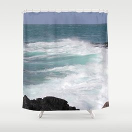 Furious ocean Shower Curtain