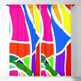 Colorful shapes Blackout Curtain