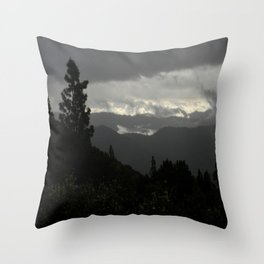 Another stormy day on the mountain... Throw Pillow