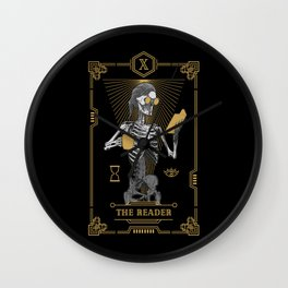 The Reader X Tarot Card Wall Clock