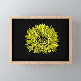 Stamped Wildflower in Yellow and Black Framed Mini Art Print