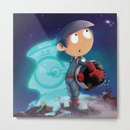 Space Kid Metal Print