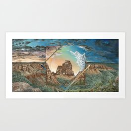 Colorado National Monument Polyscape Art Print