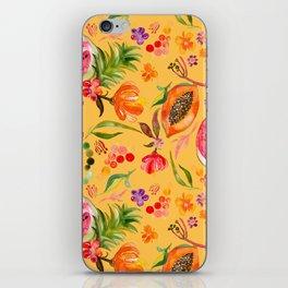 Tropical Fruit Festival in Yellow   Frutas Tropicales en Amarillo iPhone Skin