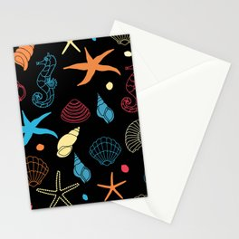 Seahorse Sea Shell Party Stationery Cards