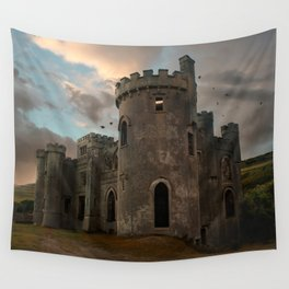 Clifden Castle at the sunset Wall Tapestry