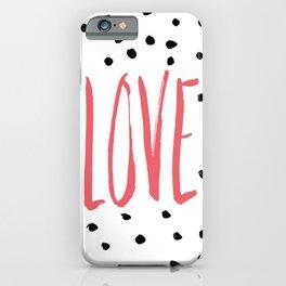 Love dot com — pink iPhone Case