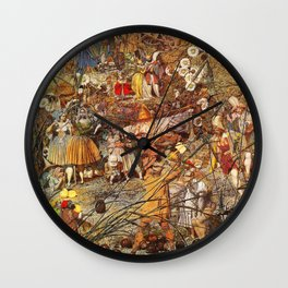 Richard Dadd The Fairy Feller's Master Stroke Wall Clock