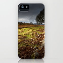 Approaching storm over Brecon, South Wales UK iPhone Case