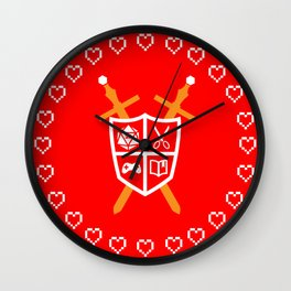 Crest of Nerdom Wall Clock