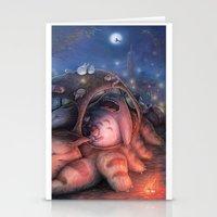 ghibli Stationery Cards featuring Ghibli Sleepover by KehChoonWee
