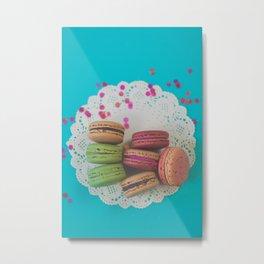 Colorful Macarons Metal Print