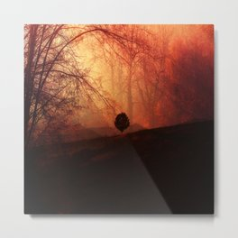 In the Distance, Trees Landscape Art Metal Print