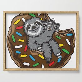 Sloth choco donut Serving Tray