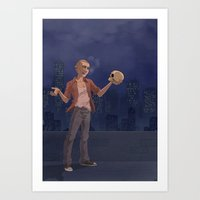 hamlet Art Prints featuring Hamlet  by Josumelmoth