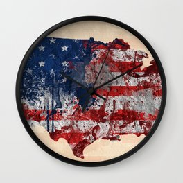 america map  Wall Clock