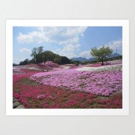 Flower Hills Japan Art Print