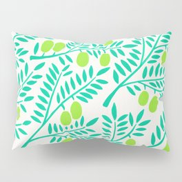 Olive Branches – Turquoise & Lime Palette Pillow Sham