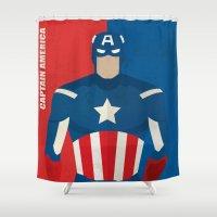 captain silva Shower Curtains featuring Captain  by Loud & Quiet