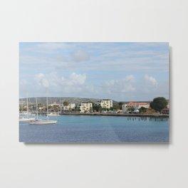 Bonaire Kralendijk Harbor Sailing Boats Metal Print