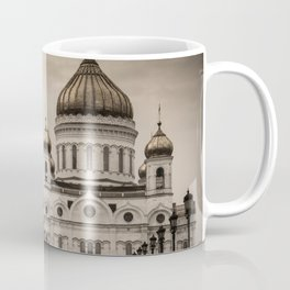 the Cathedral of Christ the Savior in Moscow in Sepia Coffee Mug