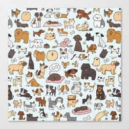 Doggy Doodle Canvas Print