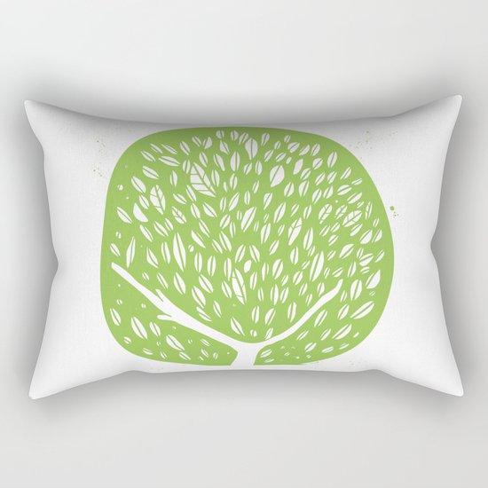 Tree of life - pea green Rectangular Pillow