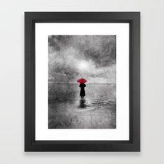 waiting in the sea II  -  by Viviana Gonzalez Framed Art Print