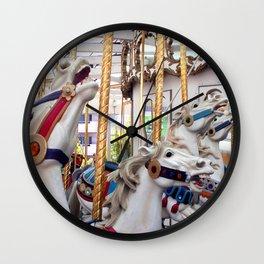 Carousel horses 01 Wall Clock