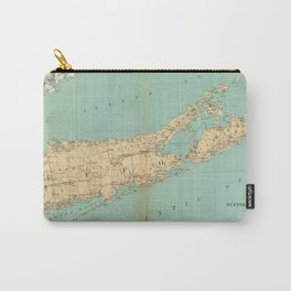 Vintage Map of Suffolk County NY (1895) Carry-All Pouch