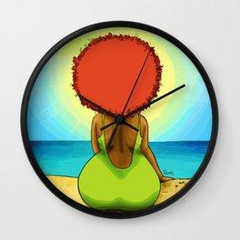 Chomba mirando al mar Wall Clock