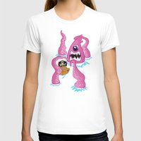 pirate ship T-shirts featuring Giant Squid vs Pirate ship by Squid ink