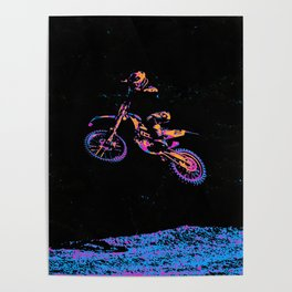 AIR TIME - Motocross Sports Art Poster