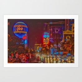 Las Vegas Nights 5 Art Print