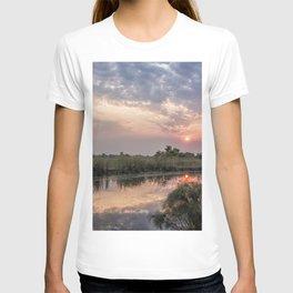 Sun Rising on the Okavango Delta T-shirt