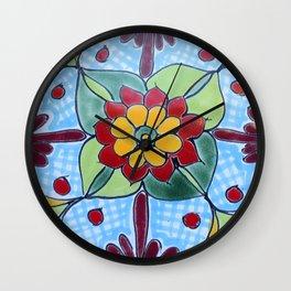 Talavera Four Wall Clock