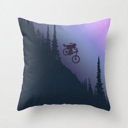 Fox Ride Throw Pillow