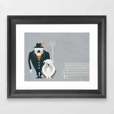 Mr. Mustachio Framed Art Print
