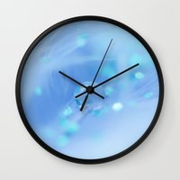 aqua Wall Clocks featuring Aqua by Jamesy (happypastel)