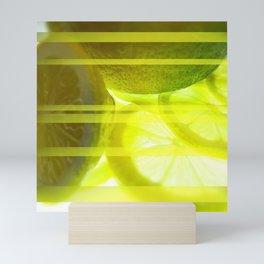 Light & Limes Striped Abstract Design Mini Art Print