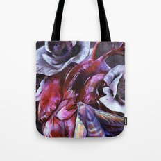 Moth and Heart Tote Bag