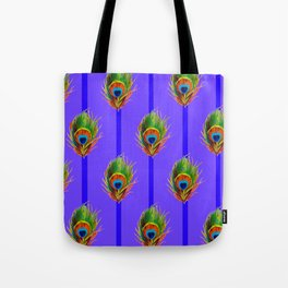Decorative Contemporary  Peacock Feathers Art Tote Bag