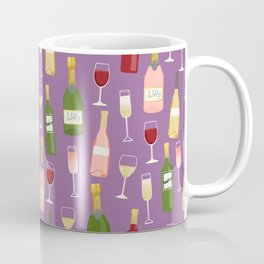 Rose drinks champagne wine bar art food fight apparel and gifts purple Coffee Mug