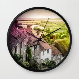 Down a quiet road in Gold Hill, Shaftesbury Wall Clock