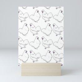 Silkie chicken pattern Mini Art Print