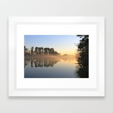 Misty Lake in Color Framed Art Print