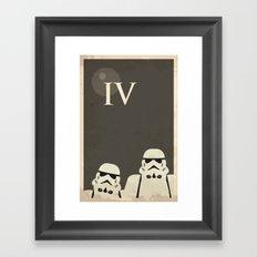 Star Wars Minimal Movie Poster Framed Art Print