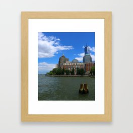 Manhattan And Hudson River Framed Art Print
