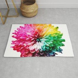 Color flower 2 Rug